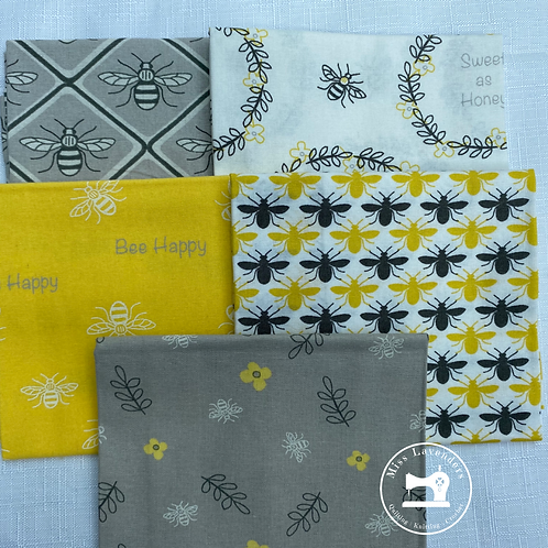 Bee Happy - Cotton Fat Quarters 5 Pack