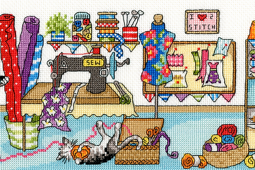Cross Stitch Kit - Sewing Fun