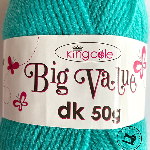 King Cole Big Value Double Knit DK 50g - Jade 4046