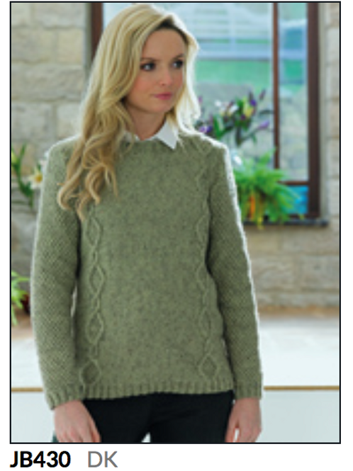 James C Brett Adult Sweater Double Knit DK - Knitting Pattern - JB430
