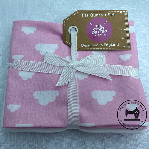 Craft Cotton Pink Nursery  - Cotton Fat Quarters - 5 Pack