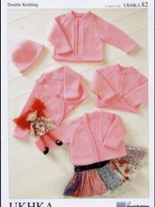 UK Handknitting Pattern Baby Cardigans/Bolero Jacket - Knitting Pattern UKHKA82