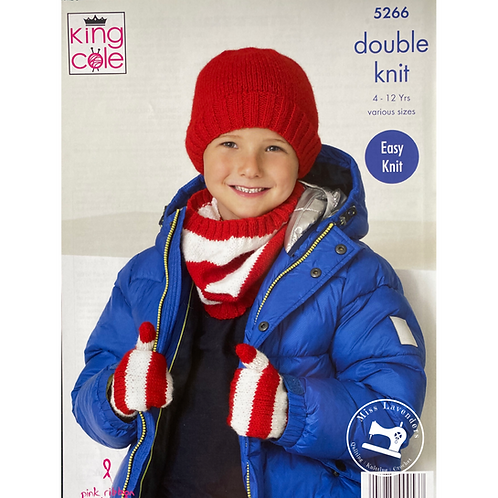 King Cole Childrens - Hats, Snoods, Scarf and Mitts,- 5607