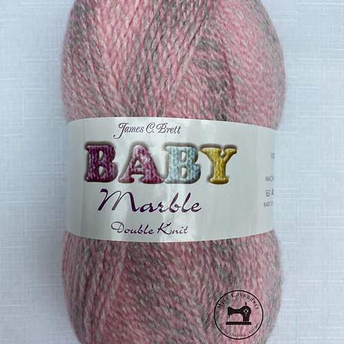 James C Brett Baby Marble Double Knit -  Pink/Grey BM10