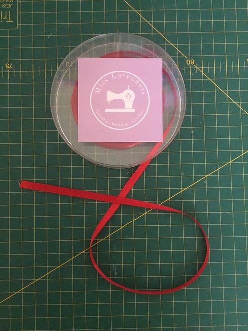 Red Satin Ribbon 6mm