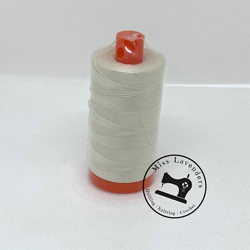 Aurifil 50/2 Quilters Cotton Thread Silver White 2309 Cream