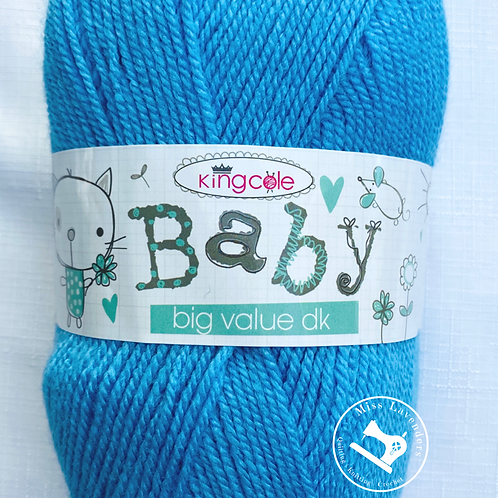 King Cole Big Value Baby Double Knit DK 100g  - Light Blue 229
