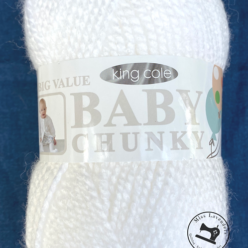 King Cole Big Value Baby Chunky White