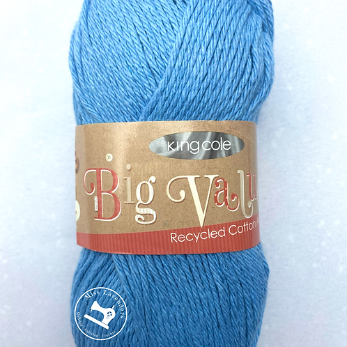 King Cole Big Value Recycled Cotton Aran - Cornflower Blue 1160