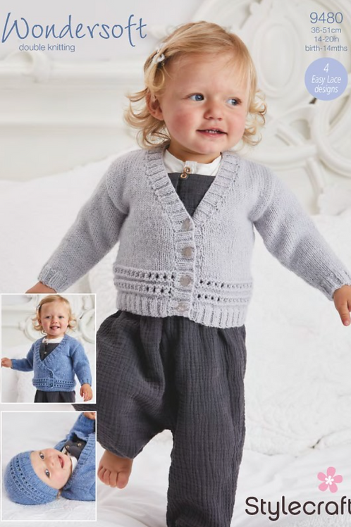 Stylecraft Babies Cardigans, Hats and Mittens - 9480