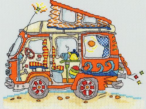 Bothy Threads Sew Dinky VW Van -  Cross Stitch Kit
