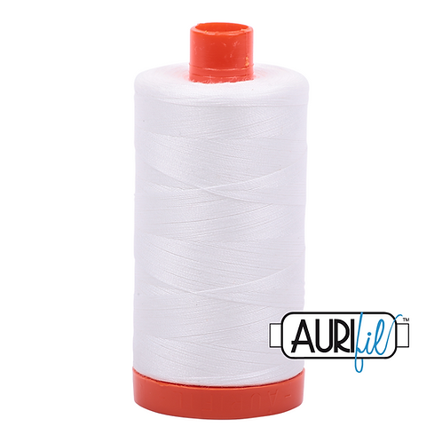 Aurifil 50wt Cotton White 1300 mtrs