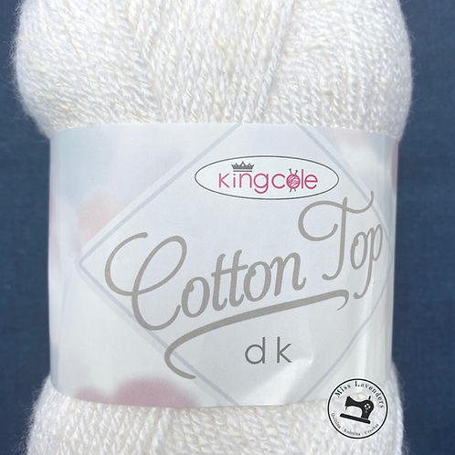 King Cole Cotton Top DK White 4215