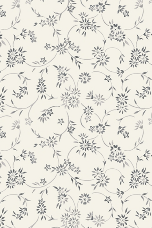 Liberty Winterbourne House - Lois Daisy Fabric - Grey 04775739/B