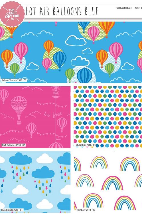 Hot Air Balloon Cotton Fat Quarters 5 Pack