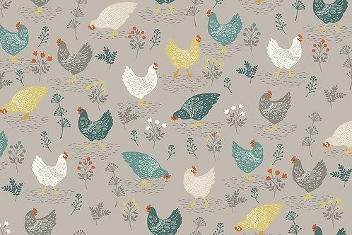 Makower Claras Garden Chickens 2262/S