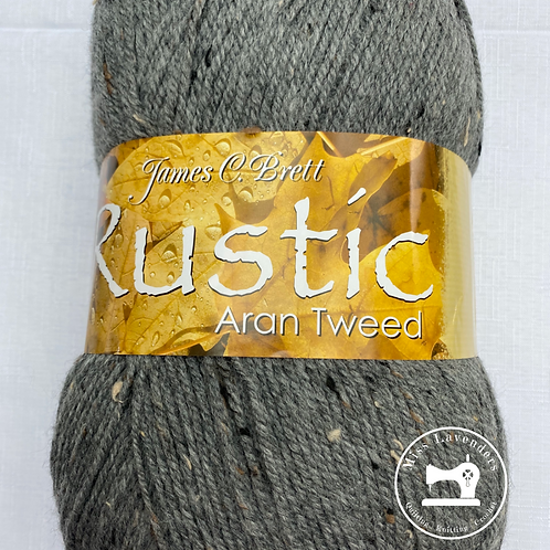 James C Brett Rustic Aran with Wool 400g - DAT13 Grey