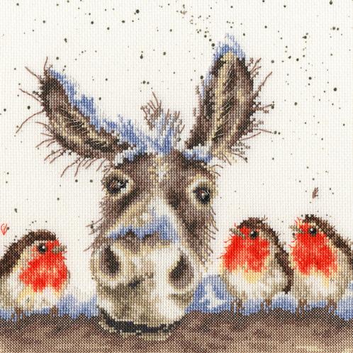 Cross Stitch Kit Christmas Donkey