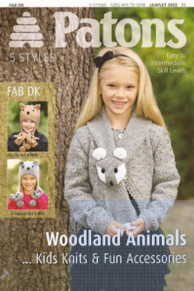 Patons Woodland Animals Double Knit  3933