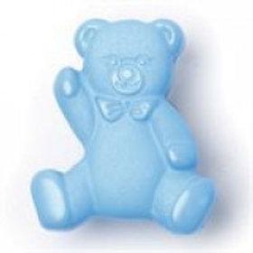 Blue 16mm Teddy Bear shank button