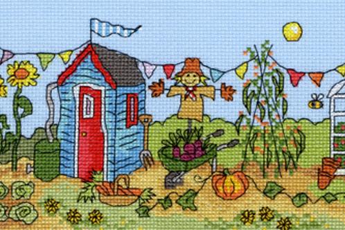 Cross Stitch Kit - Allotment Fun