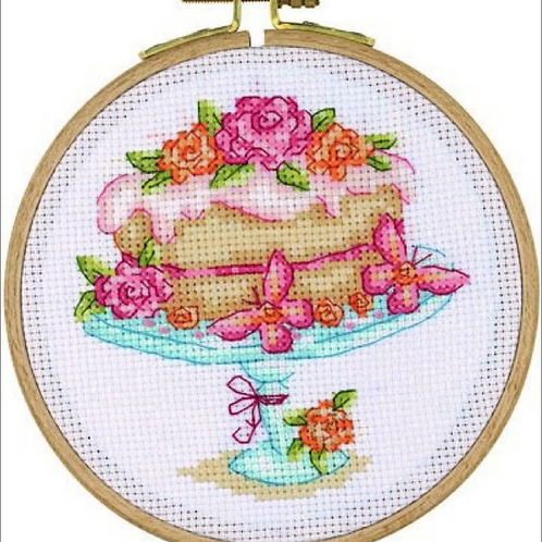 Tuva Cross Stitch Kit with Wooden Hoop Bloomin Delicious