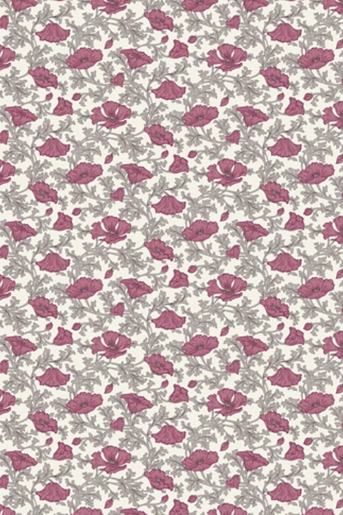 Liberty Winterbourne House - Nina Poppy  Fabric - Pink 04775741/A