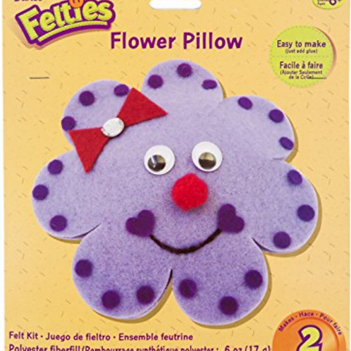 Felties Felt Kit Flower Pillow - Makes 2