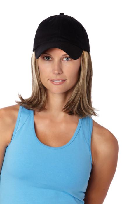 Hats with Hair, Medium, Black Hat