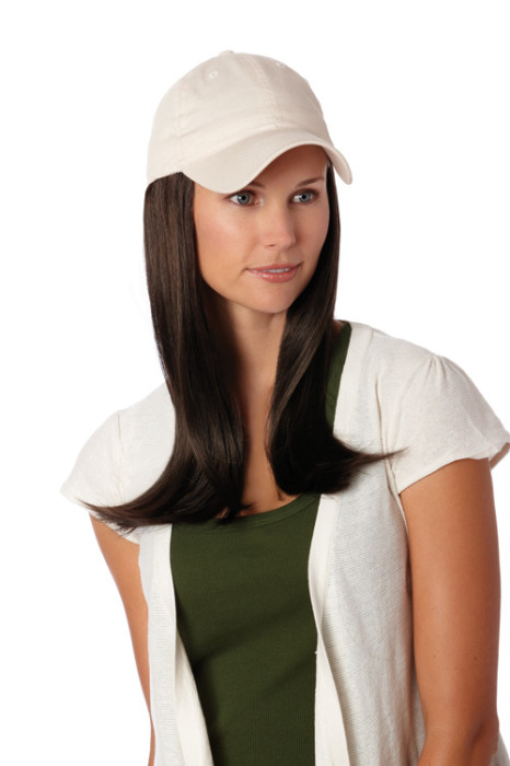 Hats with Hair, Long, Beige Hat