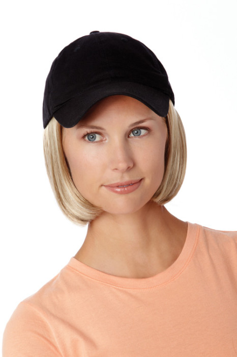 Hats With Hair, Short, Black Hat