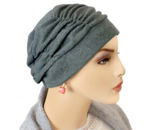Shirred Cap Turban - Solid Color