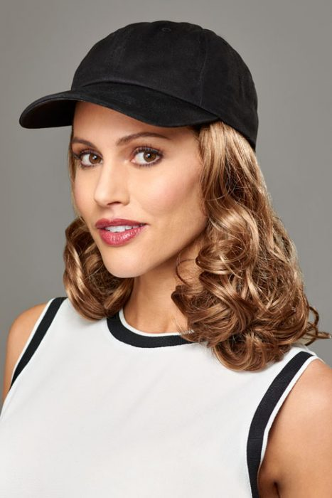 Hats with Hair, Curly, Black Hat