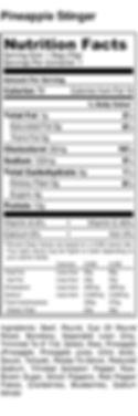 Pineapple Stinger - Nutrition Label (2).