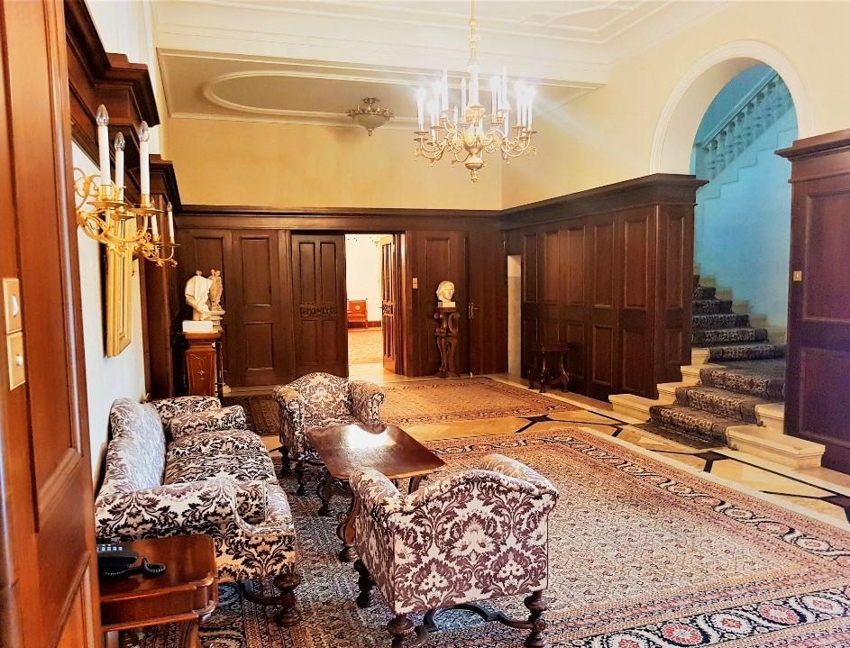 ground-floor-hallways-dictator-ceausescu-palace-Snagov-Romania