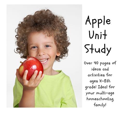 An Apple A Day Unit Study