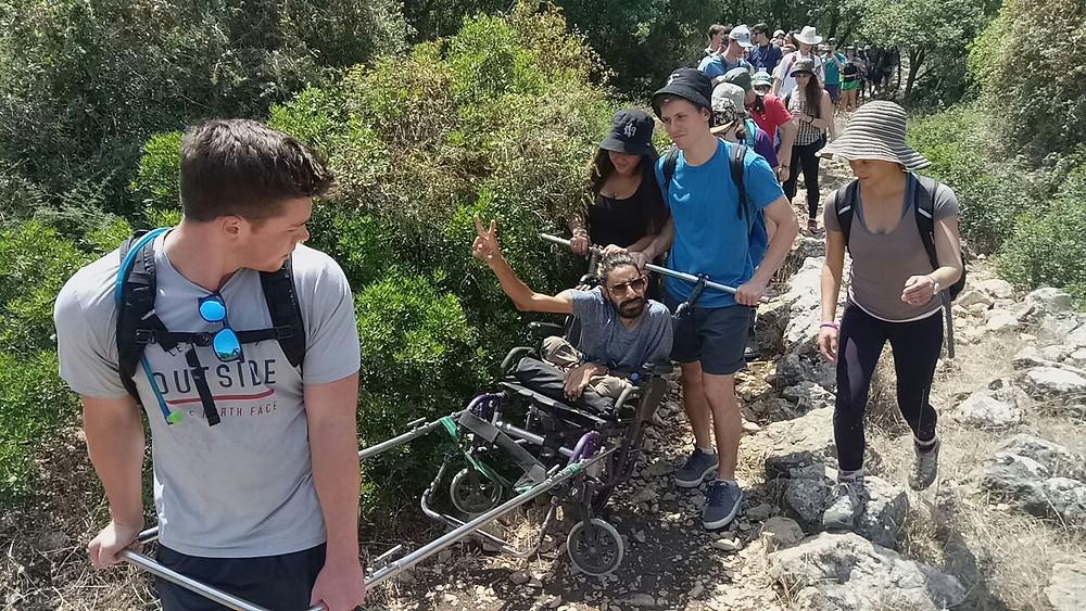 נתנאל יהודה הלוי בטיול תגלית יחד עם פאראטרק