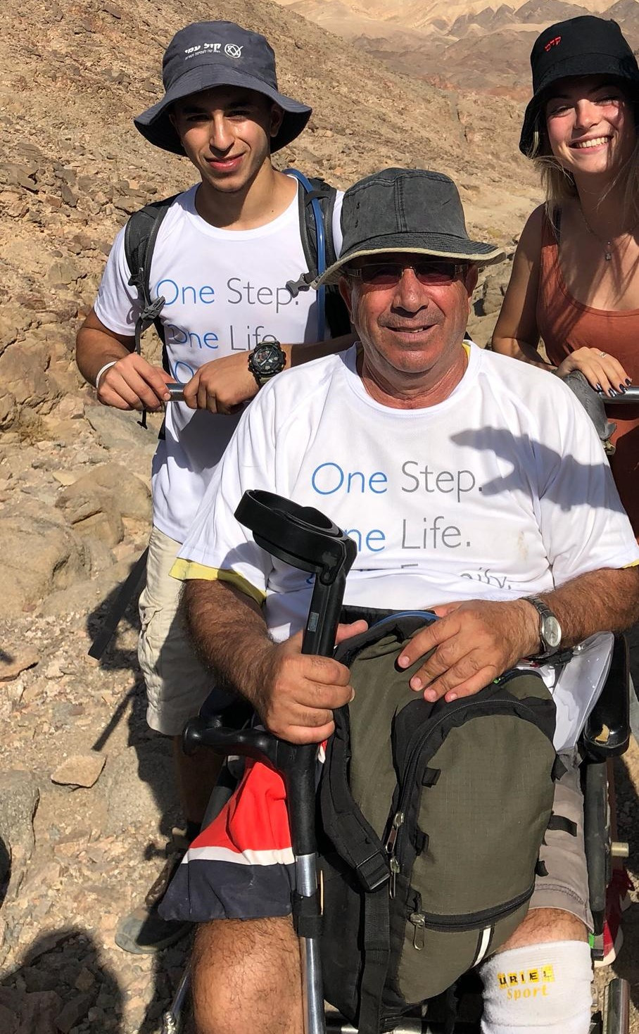 בר בטיול בהרי אילת באוקטובור 2018