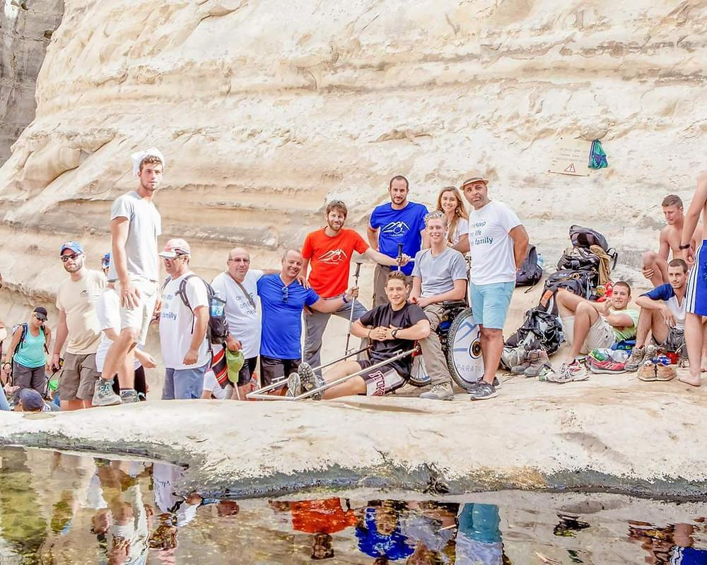 נועה הילזנרט בטיול של פאראטרק עם משפחה אחת