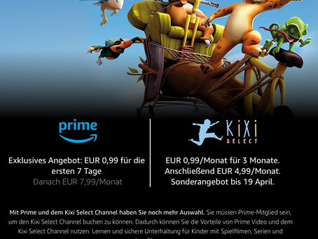 KiXi in der Oster-Promotion bei Amazon Prime Video