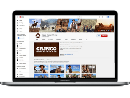"""Grjngo Western Movies"" YouTube channel exceeds 250k subs"