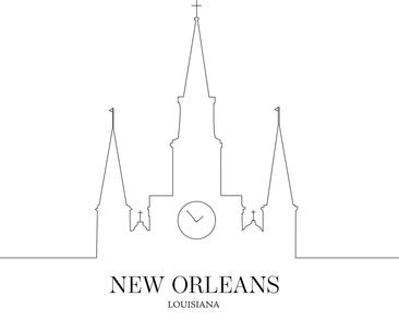 New Orleans Line Art