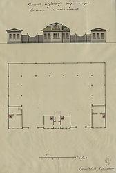 План и фасад трактира