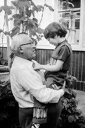 Е.П. Славский с внучкой Антониной