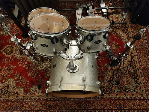 """Pacific D&P CX Serie Silver sparkle 22""""10""""12""""14""""+ Pieds (Made In Mexico)"""