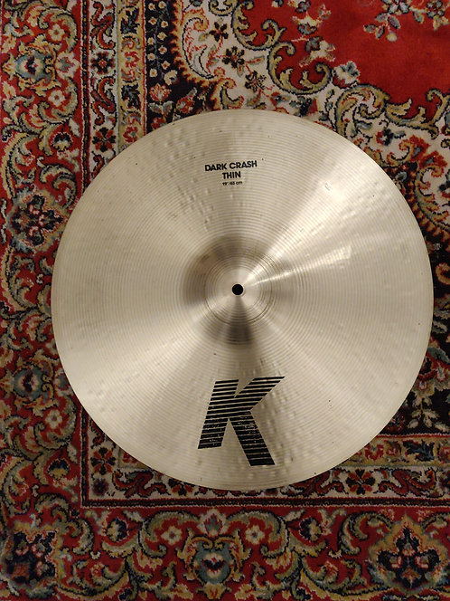 Zildjian K Dark Thin Crash 19""