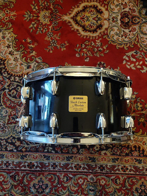 "Caisse Claire Yamaha Beech Custom Absolute en 14""x7"" Black Lacquer"