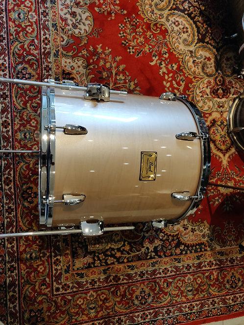 "Pearl Masters Studio BRX Tom Bass 16"" + pieds Platinum Mist"
