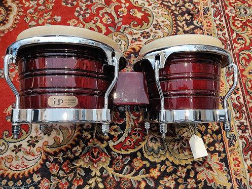 LP LP201AX-2DW Generation II  Wood Bongos w/ Comfort Curve II Rims Comme neufs