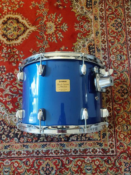 "Yamaha Beech Custom Absolute Tom 14""X10"" Cobalt Blue Lacquer Made in Japan"